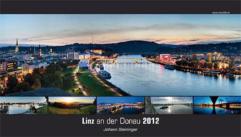 Linz an der donau 2012 panorama kalender